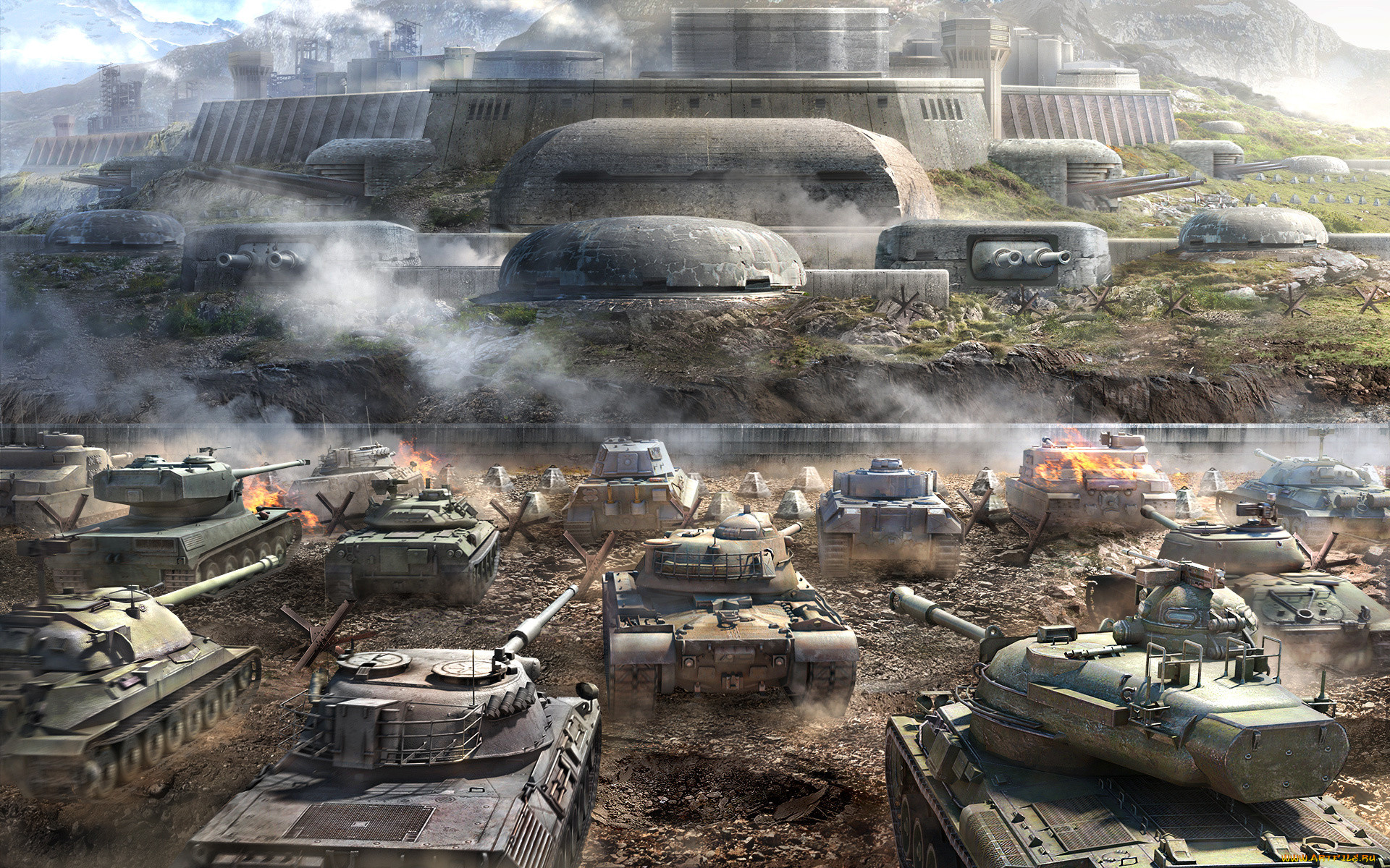 Обои дым, World of tanks. Игры foto 16